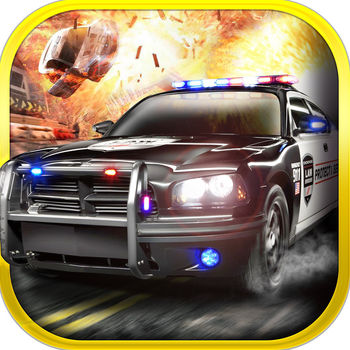 3D Police Drag Racing Driving Simulator Game: Race The Real Turbo Chase - Welcome to the right side of the law. In this nerve racking, super fast racer, you'll need to act as a law enforcement officer. At your disposal you have some pretty amazing cars. You'll start with a regular police vehicle. But as you progress in your career you'll get access to the fearless off-roader, ultra-quick lambo and many many more. Your choice of vehicle is crucial as you'll be racing through different environments: forest, city, winter and desert. All maps are designed to give the ultimate pleasure while chasing the villains! Collect sheriff stars, avoid any obstacles and help the law shine again!Game features:- intelligent opponents- different modes of steering- continue racing where you left off- awesome 3D graphics- online leaderboard