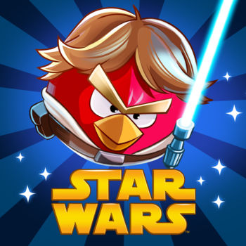 Angry Birds Star Wars - JOIN THE ANGRY BIRDS IN THEIR BIGGEST ADVENTURE YET!A long time ago in a galaxy far, far away... a group of desperate rebel birds faced off against a galactic menace: the Empire's evil Pigtroopers!Rebel birds, striking from a hidden base, have won their first victory against the evil Imperial Pigs. During the battle, Rebel spies managed to steal secret plans to the Empire's ultimate weapon, the PIG STAR, and are racing to deliver the plans to the Rebel Birds. Now they need your help!Join an epic adventure with the Angry Birds in the legendary Star Wars™ universe! Use the Force, wield your lightsaber, and blast away Pigtroopers on an intergalactic journey from the deserts of Tatooine to the depths of the Pig Star -- where you'll face off against the terrifying Darth Vader, Dark Lord of the Pigs! Can you become a Jedi Master and restore freedom to the galaxy?Time to grab your lightsaber and join the adventure! May the birds be with you!HOURS AND HOURS OF ENGAGING GAMEPLAY - Explore more than 100 levels in iconic locations like Tatooine and the Pig Star. Can you dodge Imperial pigs, laser turrets, Tusken Raider pigs, and the dark side of the Force to get all three stars? NEW GAMEPLAY MECHANICS - Use lightsabers, Blasters and Jedi powers to wreak havoc on the Imperial Pigs!LEVEL UP YOUR BIRDS - Keep playing and level up your birds to improve their skills!SECRETS AND HIDDEN GOODIES - Can you unlock all the R2-D2 and C-3PO bonus levels?FREE UPDATES - This is only the beginning of the epic saga!THE MIGHTY FALCONStuck on a tricky level? Earn stars and call the Mighty Falcon to rain down the destruction. New goals, achievements and gameplay!PATH OF THE JEDIThe ultimate training ground for a Young Jedi, this episode features 40 Dagobah Challenge Levels with Jedi Master Yoda! Master the Path of the Jedi to unlock the ultimate Lightsaber! Available as an in-app purchase, or by earning three stars on every level.Follow @angrybirds on TwitterWatch the videos, read the comics and submit fan art at angrybirds.com/starwarsLike us at facebook.com/angrybirds and say hello!Terms of Use: http://www.rovio.com/eulaPrivacy Policy: http://www.rovio.com/privacyThis application may require internet connectivity and subsequent data transfer charges may apply.Important Message for ParentsThis game may include:- Direct links to social networking websites that are intended for an audience over the age of 13.- Direct links to the internet that can take players away from the game with the potential to browse any web page.- Advertising of Rovio products and also products from select partners.- The option to make in-app purchases. The bill payer should always be consulted beforehand.