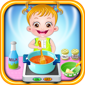 Baby Hazel Kitchen Time - Play Baby Hazel Kitchen Time game on your android device for free.Baby Hazel is very much interested to try something at the kitchen. So today our little angel has decided to make her afternoon meal. Can you be of her help in preparing delicious meal for her. As a first thing, shop for required ingredients, tools and utensils to prepare her food. Then go to kitchen and help her in food preparation. Finally set up the food cart and then feed our princess with the delicious home made food. Happy Kitchen time with Baby Hazel.