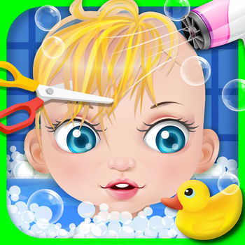 Baby Spa & Hair Salon - kids games - There are a lot of cute babies.They are going to be dressed up, have a SPA and go to the hair salon!How cute they are!