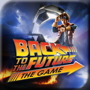 Back to the Future: The Game - ***** Back to the Future: The Game is NOW AVAILABLE for iPhone! *********** Great Scott! Episode 1 is FREE for a Limited Time! **********  Episodes 2-5 are available to purchase individually ($2.99 each) or save 15% by purchasing the \'Ep 2-5 Multi-Pack\' ($9.99 - Limited Time) in-app ***** ***** PLEASE NOTE the release of this new universal base app replaces Episodes 2-5 apps of Back to the Future: The Game which will no longer be available for direct download on the App Store. Ownership of these episodes cannot be transferred to the universal app, so if these episodes were not backed up to the iCloud or kept on the device, they can no longer be acquired without purchasing the Episodes 2-5 multi-pack. Ownership of Episode 1 will transfer to ownership of the new universal base app. ******= compatible with iPhone 4 devices and up.** \