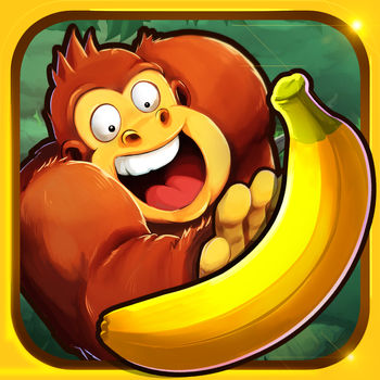 Banana Kong - A thrilling ride through jungle, caves and treetops. Play as Kong! Banana Kong!Run, jump, bounce and swing on vines as you help Banana Kong to outrun a huge banana avalanche! Keep full control with highly responsive single-finger tap and swipe controls. Ride the boar or fly with the toucan to overcome dangerous obstacles like massive boulders, crocodiles, piranhas and boiling lava. Nature can be a cruel enemy… While you dash through the jungle you\'ll be able to outrun your friends! Thanks to full Game Services integration you can see your friends best distance right in the game. Compare your high scores and unlock achievements while improving your playing style. A highly dynamic game engine will provide endless fun in this neverending run. Each session is a new challenge as the level is built randomly on the fly.Collect as many bananas as possible to fill your energy bar. Use a power-dash to destroy obstacles or take alternative routes like the deep underground cave area or treetops. Find secrets and unlock extras to get the most out of the game. AppAdvice: \'…a lot like Donkey K....\'Gamezebo: \'…Banana Kong seems like the kind of guy you could relax and have a banana milkshake with\'Features: - Cloud Save- HD Display support- Full Game Services integration- Ride animals- One thumb controls- 10 seconds from launching the game to playing it.