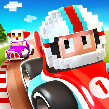 Blocky Racer - Endless Arcade Racing - From the makers of Blocky Football and Agent Dash comes a racing game everyone can play. Featuring simple controls with dynamic one-tap drifting and exhilarating speed boosts, charge through multiple stages where split-second overtaking wins the race! Collect and level-up cars to increase your score combo.ADORABLE CHARACTERSBuild your race team with cute drivers and crazy vehicles, including a popstar driving a sports car, a ninja piloting a stealth-copter, a princess riding in a magical carriage and a monkey in a barrel.BEAUTIFUL SCENERYDrive through a living, breathing island circuit with tight corners and flowing straights. Beautiful varied scenery through countryside, rocky mountains, twisting forest roads, a valley lagoon with suspension bridge and beachside tunnel. Charming scenic details, a lighthouse, log cabins and campfires, railway, sand castles, buckets and spades, confetti trumpets and waving inflatable tube men!FRESH STYLEIntroducing a fresh blocky look, that mixes retro style with modern graphical techniques and special effects.FEATURES• A racing game everyone can play• 30 adorable characters with crazy vehicles• Huge island circuit with stunning scenery• Collect and level-up cars to increase score combo• Stunning retro style mixed with modern techniquesfacebook.com/fullfatgamestwitter.com/fullfatgameswww.fullfat.com