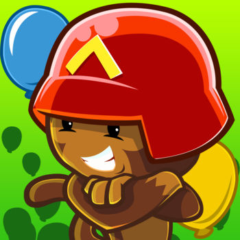Bloons TD Battles - Play the top-rated tower defense franchise in this free head-to-head strategy game.It\'s monkey vs monkey for the first time ever - go head to head with other players in a Bloon-popping battle for victory. From the creators of best-selling Bloons TD 5, this all new Battles game is specially designed for multiplayer combat, featuring over 20 custom head-to-head tracks, incredible towers and upgrades, all-new attack and defense boosts, and the ability to control bloons directly and send them charging past your opponent\'s defenses.Check out these awesome features:* Head-to-head two player Bloons TD * Over 20 custom Battles tracks * 22 awesome monkey towers, each with 8 powerful upgrades, including the never before seen C.O.B.R.A. Tower.* Assault Mode - manage strong defenses and send bloons directly against your opponent * Defensive Mode - build up your income and outlast your challenger with your superior defenses * Battle Arena Mode - Put your medallions on the line in a high stakes Assault game. Winner takes all.* All new Monkey Tower Boost - supercharge your monkey towers to attack faster for a limited time * All new Bloons Boost - power up your bloons to charge your opponent in Assault mode * Battle it out for top scores on the weekly leaderboards and win awesome prizes.* Create and join private matches to challenge any of your Facebook or Game Center friends * 16 cool achievements to claim * Customize your bloons with decals so your victory has a signature stamp\