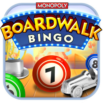 Boardwalk Bingo: A MONOPOLY Adventure - Advance to the boardwalk and have a blast playing Bingo in a whole new way! MR. MONOPOLY guides you as you win awesome rewards unlocking and exploring all your favorite properties from MONOPOLY. Play with friends as you take a summertime stroll down the boardwalk - hang out on the beach, at the amusement park or at your luxurious high-rent houses and hotels! Become a Bingo champion with epic boosts like instant bingo, free parking daubs and mystery chests! Play with up to 8 or 12 cards - more than any other Bingo game - switch smoothly between cards to daub numbers and call Bingo lightning-fast!• VISIT iconic MONOPOLY properties and spaces like Mayfair, Chance, and Piccadilly!• PLAY with more cards than any other Bingo game for an extra challenge, up to 8 cards on iPhone or 12 on iPad!• COMPETE with friends in tournaments to see who can get the most Bingos!• WIN using unique multi-level boosts to gain an explosion of free daubs, reveal upcoming numbers and add bonus spaces to your cards!• COLLECT Community Chests for great rewards such as coins, extra boosts, tickets and more!• COMPLETE fun, MONOPOLY themed Collections in every property to get more tickets and play even more!The best looking, smoothest Bingo experience available on your iPhone, iPad, or iPod Touch.Please note: Boardwalk Bingo: A MONOPOLY Adventure is an online only game. Your device must have an active internet connection to play.Please note that Boardwalk Bingo: A MONOPOLY Adventure is free to play, but you can purchase in-app items with real money. To delete this feature, on your device go to Settings Menu -> General -> Restrictions option. You can then simply turn off In-App Purchases under \