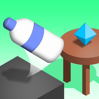 Bottle Flip! - Let the bottle flip from one table to the next! Do it as many times in a row as you can!Just touch and hold the screen to charge and release to let the bottle flip. Try not to fall down!Collect gems to unlock different bottles.What\'s your best score?