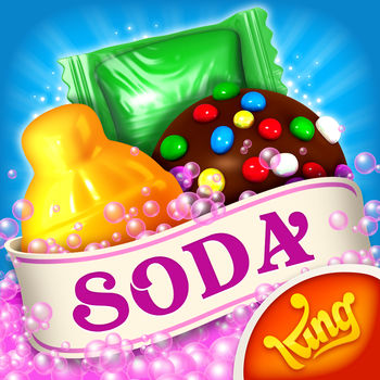 Candy Crush Soda Saga - Start playing Candy Crush Soda Saga today - already enjoyed by millions of players around the world!Candy Crush Soda Saga is the divine puzzle game from King, the makers of Candy Crush Saga, Farm Heroes Saga and more! Switch and match candies to create 3 in a row, or match 4 (or more) to make delicious special candies! Complete the goals before you run out of moves to progress through deliciously fun levels. It\'s that simple!Switch and match scrumptious candies to make mouth-watering combinations and play challenging game modes brimming with purple soda and Candy Bears! Take on this Sodalicious Saga alone or play with friends to see who can get the highest score!Candy Crush Soda Saga is completely free to play, but some in-game items such as extra moves or lives will require payment.By downloading this game you are agreeing to our terms of service; http://about.king.com/consumer-terms/termsNew Candy Crush Soda Saga features: * Over 1000 Sodalicious levels* New Game Modes include:Soda – switch bottles and candies to release purple soda and save the Candy BearsFrosting – match candies to smash the ice and set the Candy Bears freeHoney – match candies next to the honey to release the trapped Candy Bears* Scrumptious new candies and sublime new combinations:Match 4 candies in a square to make a Swedish FishMatch 7 candies to create the remarkable Coloring Candy* Explore juicy new environments and meet the kookiest characters* Mouth-watering new graphics, Candy Crush never looked so tasty* Easy and fun to play, yet challenging to fully master* For players that Facebook Connect, there are leaderboards for you and your friends to compare your Sodalicious scores* Easily sync the game between mobile and tablet devices and unlock the full game features when connected to the internetThis mouth-watering puzzle adventure will instantly quench your thirst for fun.  Join Kimmy on her juicy journey to find Tiffi, by switching and matching your way through new dimensions of magical gameplay.  Take on this Sodalicious Saga alone or play with friends to see who can get the highest score!Are you already a fan of the new Candy Crush Soda Saga?  If so then visit our website, like us on Facebook or follow us on Twitter for the latest news:www.candycrushsodasaga.comfacebook.com/CandyCrushSodaSaga twitter.com/CandyCrushSodaSagaLast but not least, a big THANK YOU goes out to everyone who has played Candy Crush Soda Saga!