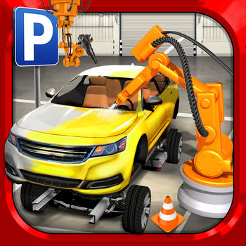 Car Factory Parking Simulator a Real Garage Repair Shop Racing Game - In Car Factory Parking Simulator you have to take on EVERY DRIVING JOB. Deliver parts using Trucks, Vans and Fork Lifts. Take your Car through the factory production line and watch it get built in stages from Rolling Chassis to a Finished Car. You can even paint it your favorite color in the paint booth! Then give it a Test Drive on the test track, and finally, deliver to customers using the Car Transporter truck!Are you ready to start the career of your lifetime? _____________________________BUILD CARSCalling for Truckers and Test Drivers! Are you ready for a totally original Parking game challenge?!You'll be in charge of the full production chain… deliver parts, move cars through the busy production line, paint cars in the paint-booth, test drive cars on the test track, deliver finished cars to the top-deck of the Car Transporter Trucks and drive safely away! Can you handle the pressure?_____________________________REALISTIC FACTORYExplore all the departments in the factory including: metal pressing plant, robotized chassis welding, fitting and finishing, paint shops, quality control, car valet area, test track, offices and car storage areas! See how a car factory operates in your new job as the ultimate factory driver!_____________________________FREE TO PLAYThe Main Game Mode is 100% FREE to play, all the way through, no strings attached! Extra Game Modes which alter the rules slightly to make the game easier are available through optional In-App Purchases. Each mode has separate leaderboards to make for totally fair competition!_____________________________GAME FEATURES	? AWESOME VEHICLES: 7 Different Trucks and Cars to Master? CAR PARKING: Exciting missions to test the best drivers ? 100% Free-2-Play Missions? CONTROLS: Buttons, Wheel, Tilt & MFi Game Controller Support? CAMERAS: Multiple cameras including First Person view  ? iCLOUD: Supports play between your devices & automatic progress backup with iCloud? OPTIMISED: runs on anything from (or better than) the iPhone 4, iPad 2, iPad Mini & iPod Touch (4th Generation)