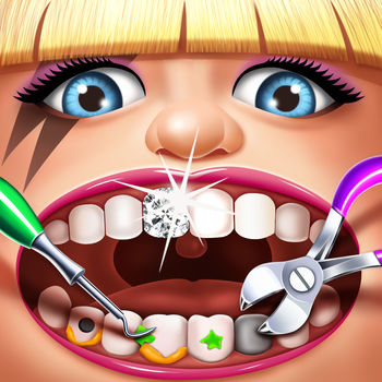 Celebrity Dentist - Doctor Surgery Simulator Games - ***ATTENTION!!! NEW POP STARS ADDED***-Katy Perry has found that fame brings lots of cavities! Help her get that pretty smile back!-Kanye West is a daddy now! Keep his teeth pearly white for all those family photos!Pop Stars go to the Dentist too! There are so many fans that want pictures of your favorite stars... help them ALL get shiny sparkling teeth so they can show off their famous smile for all their fans!Take care of the COOLEST Pop Stars!- Justin Bieber- PSY- Taylor Swift- Nicki Minaj- AND MORE!The Fun Includes:* Tooth Decay! Yank those ugly teeth!* Bad Breath! Pew! Spray away the bad breath!* Shine up their teeth with a toothbrush!* CRAZY Tools to get rid of cavities!* Add some sparkling GRILLZ!* Fun trinkets for their braces!* TONS of fun GAMES inside!GET it TODAY !!!!Wanna have more fun? Having problems or suggestions? We would love to hear from you!You can find us on Facebook at https://www.facebook.com/BearHugMediaPrincessGamesOr on Twitter at https://twitter.com/bear_hug_mediaFor more information about Bear Hug Media, please visit http://www.bearhugmedia.comFor more information about Celebrity Dentist, please visit http://www.bearhugmedia.com/celebrity-dentist