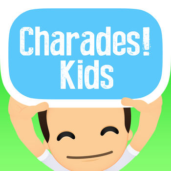 Charades! Guess Words with Kids - Charades! is the outrageously fun and exciting multi-activity game for you and your kids! With different challenges from singing, acting or sketching -- guess the word on the card that's on your head from your kid\'s clues before the timer runs out! Features: - Children themed decks so your child can join in the fun!- Play with one child, or one hundred at the same time. - Draw a new card by tilting your phone up or down - Wacky activities from singing, sketching to trivia will challenge even the most well-rounded players With 15 children themed decks to choose from, each packed with over 50+ exciting gameplay cards, the fun will never stop! So whether you\'re child is young or older-there\'s something for everyone. Decks include: - Family Movies - Cartoons- Anime - Toys and Game- Children\'s Songs- And lots more! Challenging players in trivia and creativity, your next party, reunion or family game night will never be the same.