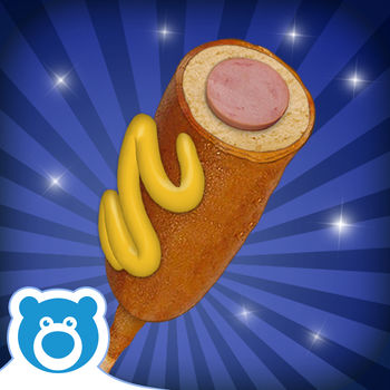 "Corn Dog Maker by Bluebear - Make and decorate your very own yummy Corn Dogs!The wait is over…Corn Dogs! has finally arrived to the AppStore!From the makers of ""Cotton Candy!"" and \"