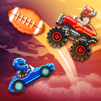 Drive Ahead! Sports - Drive Ahead! Sports is sports with cars! Play soccer with a car! Challenge friends on the same device! Perfect your skills in Single Player! Drive cars from motocross bikes to monster trucks! Gain mastery of the sport and upgrade your characters for more power!Local multiplayer has never been this much fun! Enjoy crazy random matches with friends and family! Show off your skills in shared replays! Become a Drive Ahead! Sports celebrity in front of a gazillion fans!Amazing levels! Unique Characters! An overflowing prize machine! Pixel art! What\'s not to love!!? Let Drive Ahead! Sports score a home run straight to your heart!Drop us a line or review and let us hear how you\'re enjoying Drive Ahead! Sports!You can email us at driveaheadsports [at] dodreams [dot] com. Here is our Privacy Policy: http://dodreams.com/pdf/dodreams_policy.pdf.