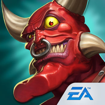 "Dungeon Keeper - ""EA has a massive hit on its hands… devilishly funny and addictive."" – Inside Mobile Apps""I'm a big fan of tower-defense-style games, real-time strategy games, and the classic Dungeon Keeper. This follows that formula perfectly."" – VGMarket playtesterDIG. DEVISE. DOMINATE! It's good to be bad in Dungeon Keeper!Devilishly smart. Deploy wicked tactics and dominate your enemies! Build the ultimate underground lair and summon diabolical forces to do your bidding. It's tower defense…without the tower…and a lot more offensive! A NEFARIOUS ARMY AT YOUR SERVICE!From Trolls to Bile Demons, Mistresses, and Warlocks – deploy your army of baddies and unleash special attacks to destroy the competition. TIME TO GET DOWNMaximize your defenses to thwart invaders with expertly laid traps and dungeon design. Build rooms like the torture chamber or dark library to give attackers some painful and shocking surprises. IT'S GOOD TO BE BADAttack enemy dungeons and plunder their resources. Deploy your forces and face spike traps, cannons, poisonous spores and more. Too many enemies? Turn them into chickens! Master the Hand of Evil™ to unleash devastating spell attacks.HURTS SO GOODSome minions need more…motivation than others. Slap your Imps to get them working faster. JOIN FORCES - THERE'S POWER IN NUMBERSForm guilds with players from around the world. Your new alliances let you share minions, increase resource generation, and earn exclusive guild achievements. What more are you waiting for, Keeper? Play the most diabolically fun game on the App Store!""Like"" us on Facebook or ""Follow"" us on Google+ and Twitter for the latest Dungeon Keeper news: http://www.facebook.com/dungeonkeepermobile http://plus.google.com/+Dungeonkeepermobilehttp://www.twitter.com/eadungeonkeeperWant to connect with fellow Dungeon Keeper players? Please visit: www.dungeonkeeper.com/forumsNeed help? Please visit: www.dungeonkeeper.com/faqsNOTES:This game is not playable on iPod touch (4th generation). Persistent Internet connection required to play.  Network fees may apply.Requires acceptance of EA's Privacy & Cookie Policy and User Agreement.This app collects data through the use of third party ad serving as well as EA's and third party analytics technology. See End User License Agreement, Terms of Service and Privacy and Cookie Policy for details. This app collects data through the use of EA's and third party analytics technology. See End User License Agreement, Terms of Service and Privacy and Cookie Policy for details. EA may retire online features and services after 30 days' notice posted on www.ea.com/1/service-updates.Post only content that is appropriate and does not infringe the rights of others. EA's Terms of User Agreement: terms.ea.comThis app allows the player to make in-app purchases.  Consult the bill payer before making any in-app purchases. Includes in-game advertising. This app contains advertising for EA products and products of select partners."