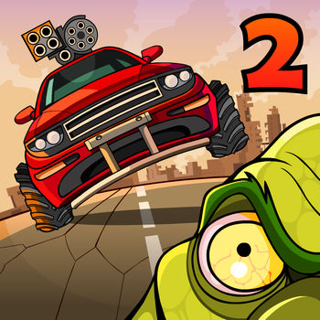 Earn to Die 2 - Drive your car through a zombie apocalypse in this massive follow-up to the chart-topping hit Earn to Die!An evacuation ship is waiting on the other side of the country. The only thing that stands in your way: city after city overrun by zombies . With only a run-down car and a small amount of cash you face a familiar situation... to drive through hordes of zombies in order to survive!BRAND NEW STORY MODEEarn to Die 2 introduces a massive new Story Mode, five times longer than its predecessor. The game departs its familiar desert setting and delves into the depths of cities infested by zombies. MULTI-TIERED LEVELS:Levels are now multi-tiered! Drive across decayed highway overpasses, via underground tunnels, or smash through epic zombie filled factories. Whichever path you choose to take, you won\'t be able to escape the zombie hordes - your only choice is to smash through them!BUILD A ZOMBIE-SLAUGHTERING MACHINEUnlock and upgrade 10 different vehicles, including a sports car, a fire truck, and even an ice-cream van. Each vehicle can be equipped with a range of upgrades, such as armored frames, roof-mounted guns, boosters and more. Those zombies will stand no chance.DESTRUCTIBLE VEHICLESVehicles are now fully destructible. Hang on for your life as your vehicle gets smashed to smithereens if you aren\'t too careful.MORE ZOMBIES. MORE DESTRUCTION. MORE MAYHEM.What are you waiting for? That rescue ship isn\'t going to wait forever! Prepare yourself for a wild ride - and seriously, there is nothing like smashing through zombie-filled factories!
