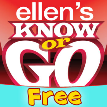 Ellen's Know or Go Free - Now you can play Ellen's Know or Go, Ellen's favorite game from her show! Put your knowledge to the test with the hilarious trivia game on your iPhone or iPad – and impress Ellen with your brilliance! But remember, if you don't know the answer, you're gonna get dropped! Can you handle the tension?In the Full version, Jump right into the game with your own personal avatar. Grab a photo of yourself from your camera or Facebook, then pick from several custom outfits. If you want to update your look, you can choose a new wardrobe! Then listen as Ellen narrates the game, making jokes and eggs you on. No trivia game has ever been more fun! If you've got what it takes to challenge Ellen, the Full version will give you 600 questions in 7 different categories, including history, current events, music, TV and more. You'll never get bored — there are always new questions! Play single player or against friends to become the top player on the world-wide leader board (Game Center integrated), then brag about your scores on Facebook. And in the Full Version of Ellen's Know or Go for iPad, you'll get an additional 200 questions – and can watch yourself drop from the cliffs of South America, the icebergs in Antarctica, the planks of a treacherous pirate ship and more! So go on and get started – and remember, if you don't know, you go!Full Version FEATURES: 600 Trivia Questions for iPhone / 800 Trivia Questions for iPad: - Pop culture themed with seven different categories including History, Music, TV, and other Fun current events. - No matter what mode you\'re playing in, the game keeps track of what questions you\'ve been asked, so you\'re always getting new and unanswered questions! - A worldwide leaderboard is included in all (3GS and up) of the game\'s competitive modes giving supreme bragging rights to the gamer with the highest score.- Listen to Ellen's comments while you play the game. Don't be distracted by her taunts!Avatars (only available in the Full version):- Create an avatar using either a photo from your device, taking a new picture from your onboard camera, or from your personal Facebook profile. Tired of your outfit? Switch between several custom outfits that will change the scenery as you battle your way through all the questions.Play Two Different Games Modes: - Play a 1-player or 2-player game with a friend. Connect your device via Bluetooth or challenge another player on Game Center and see your opponent's Avatar on screen along with all of its moves and animations. Apple Game Center Leaderboards (Apple's Social Gaming Platform) & Achievements:- Earn achievements and climb the ranks on the Leaderboards. Unlock over 25 Achievements and compare your score to other friends who play the game.Facebook Connect:- Use Facebook Connect to post your scores to Facebook or brag about beating a friend in a 2-player match.---------------------------------------If you're having problems with the game, please check out our support page: http://ellen.warnerbros.com/ellentogo/knoworgo_faqs.phpIf you're still experiencing problems, please email us at: help@ellensknoworgosupport.com---------------------------------------Get everything Ellen in one convenient place, which is better than a lot of inconvenient places.Get it here: http://itunes.apple.com/us/app/ellen/id349051443?mt=8