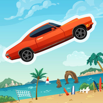 Extreme Road Trip 2 - Your gas pedal is stuck AGAIN! Do stunts to get nitro boost and SLAM it all down to unlock the insane speed of OVERDRIVE! Collect coins to unlock new cars as you play! Complete missions and get rewards!It's bigger, faster, and still FREE!The game features awesome music by Jimmy \