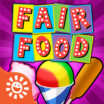 Fair Food Maker Game - Make Yummy Carnival Treats - Play the BIGGEST and BEST Fair Food Maker chef game! Make 18 delicious fair foods and 8 fair games in one download!*NEW* Just added! Chicken Nuggets Maker - Cook your own delicious crispy nuggets! Our latest  new mystery food is there for you too. Have you made a Donut Ice Cream Sandwich yet? Yum!! Visit the Midway to get started – it's easy and fun. Check out your favorite yummy treats! • MYSTERY Maker! It is a surprise!• Fried Ice-Cream Maker• Super Soda Machine• Cotton Candy• Chocolate Covered Bananas• Snow Cones• Milk Shakes• French Fries• Lemon Shake Ups • Candy Apples• Corn Dogs• ICE Pops • Kettle Corn • Funnel Cakes• Bubble gum• Yummi gummi• Donut ice cream sandwiches• Chicken Nugget MakerPick from tons of flavors, sweet candy toppings, and decorations. Can you make the coolest snow cone? The funniest corndog? The best donut ice cream sandwich? Make them all! The Midway is full of carnival fair games too! What will your fortune be? Win and collect awesome prize!  • Mystery game - it\'s a surprise!• Fortune Teller - what does YOUR future hold?• Smack Sammy • Bottle Toss • Balloon Pop with Darts• Frog Flip• Fish Bowl Toss• Water Gun Fun with clownsShare your fair foods and your prizes with your friends. If you enjoy our game, please write an awesome review!ABOUT SunstormSunstorm is the pioneer of the popular \