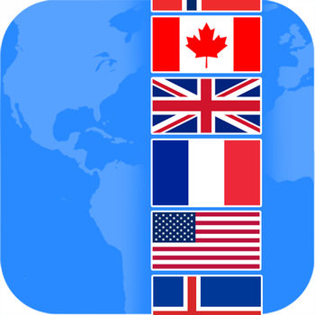 Flags Quiz - Guess flags around the world! - FlagsQuiz is game full of fun that consists on guessing the names of hundreds of flags around the world. Advance thorough levels of difficulty and strive for the highest score possible. The more flags you guess the more coins you will earn. If you get stuck and don\'t know an answer, don\'t give up! use the coins you gathered to get hints or remove unnecessary letters. If you are still stuck try asking your friends on Twitter or Facebook. - LIVE MULTIPLAYERTurn the game into a challenge and compete on real time against friends or random players. Show them who\'s the \