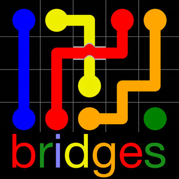 Flow Free: Bridges - From the makers of the #1 hit app Flow Free®, comes a fun and challenging new twist: Bridges!If you like Flow Free, you\'ll love Flow Free: Bridges®!Connect matching colors with pipe to create a Flow®. Pair all colors and cover the entire board. Use the new Bridges to cross two pipes and solve each puzzle!Free play through hundreds of levels, or race against the clock in Time Trial mode. Gameplay ranges from simple and relaxed, to challenging and frenetic, and everywhere in between. How you play is up to you. So, give Flow Free: Bridges a try, and experience \