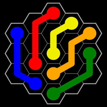 Flow Free: Hexes - Hexes! The next evolution of Flow Free®!If you like Flow Free, you\'ll love Flow Free: Hexes!Connect matching colors with pipe to create a Flow®. Pair all colors, and cover the entire board to solve each puzzle in Flow Free: Hexes. But watch out, pipes will break if they cross or overlap!Free play through hundreds of levels, or race against the clock in Time Trial mode. Flow Free: Hexes gameplay ranges from simple and relaxed, to challenging and frenetic, and everywhere in between. How you play is up to you. So, give Flow Free: Hexes a try, and experience \