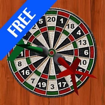 Free Darts 3D - This is a FREE version of the realistic 3D darts game for your iPhone and iPod Touch!**This is rather a preview of a game than a game itself***You can see the slow motion of your shot from a different angle.By tilting your iPhone left, right, up, and down you aim your dart and align the target.You \