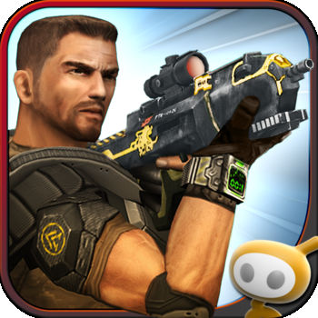 "Frontline Commando - Optimized for the iPhone 5!NOW WITH FACEBOOK SUPPORT!  CHALLENGE YOUR FACEBOOK FRIENDS TO BEAT YOUR ONE MAN ARMY SCORE.ONE MAN. ONE WAR. YOU ARE THE FRONTLINE COMMANDO.As the sole surviving Commando of a renegade attack against a ruthless dictator, you are stranded on the frontline and hell-bent on payback. You must use all of your specialized skills to survive the onslaught of the enemy forces and avenge your fallen soldiers.    SEE AND FEEL THE ACTION The ultimate 3rd person shooter with stunning console quality visuals, precise controls, advanced physics and destructibles. Jump in the heat of battle and push your iOS device to the limit!COMPLETE DEADLY MISSIONSEmerge from destructible cover points to take down helicopters, jeeps and heavily defended enemy bases. Fight off increasingly difficult waves of enemies over a variety of combat mission types.COMMAND AN ARSENAL OF DEADLY WEAPONSTake to the frontline with an artillery of assault rifles, sniper rifles, shotguns, rocket launchers, med kits, armor and more!PLEASE NOTE:- This game is free to play, but you can choose to pay real money for some extra items, which will charge your iTunes account. You can disable in-app purchasing by adjusting your device settings.- This game is not intended for children.- Please buy carefully.- Advertising appears in this game.- This game may permit users to interact with one another (e.g., chat rooms, player to player chat, messaging) depending on the availability of these features. Linking to social networking sites are not intended for persons in violation of the applicable rules of such social networking sites.- A network connection is required to play.- For information about how Glu collects and uses your data, please read our privacy policy at: www.Glu.com/privacy- If you have a problem with this game, please use the game's ""Help"" feature."