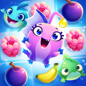 Fruit Nibblers - From the creators of ANGRY BIRDS comes the most DELICIOUS of match 3 games with CUTE characters and FRESH and FRUITY puzzle gameplay. Meet the NIBBLERS – your fishy friends who only want to eat YUMMY fruit – ALL the yummy fruit! Om nom nom! All fun and games right? Woohoo! Fruit party over here! Well, the island's reptilian inhabitants are not too happy about our group of aquatic party animals gobbling up all their fruit, and they'll try to stop them at all turns. It's up to you to use the Nibblers' special powers to keep a steady supply of fruit flowing and elude those pesky lizards in this soggy saga!-----------------------------*** FROM THE CREATORS OF ANGRY BIRDS ***The masterminds behind Angry Birds have ingrained Nibblers with their brand of zany humor, a beautiful design style, and fun & addictive gameplay!*** MEET THE NIBBLERS ***Match four, five, or more fruit to call in Coral, Octo, and the rest of the Nibblers. These fish have some tricks up their sleeves. Use their special abilities to munch more fruit, topple the lizards, and take out obstacles. *** FUN AND CASUAL ***Nibblers is super simple to learn! Just match three similar fruits and you're nibbling! It's easy to pick up and play, but with over 200 levels – and more to be added, there's always a new challenge waiting!*** OUT OF THE WAVES, INTO THE JUNGLE ***Embark on an island hopping adventure and navigate obstacles in a multitude of unique and puzzling levels – with new ones added all the time!*** PLAY WITH FRIENDS ***Get social! Connect to Facebook and challenge your friends in the leaderboards, see their progress on the island map, and share special gifts! *** NOT IN OUR BACKYARD ***Heaps of scaley baddies aim to crash your fruit party. Matching fruits next to a lizard is enough to send it packing, but you'll have to get crafty to take care of tougher enemies – and boss battles will pit your fruit matching skills against the toughest of the lizardy ranks.-----------------------------We have a COMMUNITY where fish are FRIENDS and not food, join now for the freshest news:Follow: http://www.twitter.com/nibblersgameLike: http://facebook.com/nibblersgamePin: http://pinterest.com/nibblersgame -----------------------------Having trouble? Send a message to our support team at support@rovio.com-----------------------------Nibblers is completely free to play, but there are optional in-app purchases available. Time to get your nibble on! Terms of Use: http://www.rovio.com/eulaPrivacy Policy: http://www.rovio.com/privacy