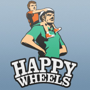 Happy Wheels - Happy Wheels is a ragdoll physics-based browser game developed and published by Fancy Force. Created by video game designer Jim Bonacci in 2010, the game features several player characters, who use different, sometimes atypical, vehicles to traverse the game's many levels. The game is best known for its graphic violence and the amount of user-generated content its players produce on a regular basis, with game maps shared on a public server.