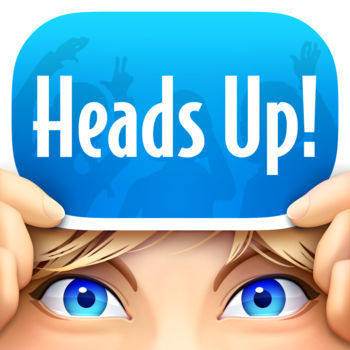 Heads Up! - Heads Up! is the fun and hilarious new game that Ellen DeGeneres plays on her show -- and now you can play it with your friends! From naming celebrities, to singing, to silly accents -- guess the word on the card that's on your head from your friends' clues before the timer runs out! Features: - Play with one friend, or one hundred at the same time.