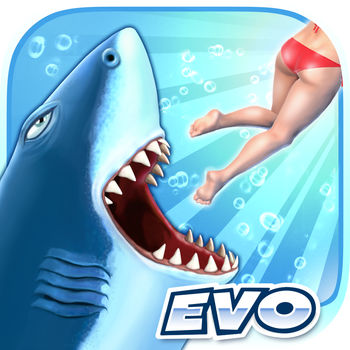 Hungry Shark Evolution - Take control of a very Hungry Shark and go on a frantic ocean rampage!Survive as long as possible by eating everything and everyone in your way! Explore underwater worlds and evolve iconic sharks like the Great White and Megalodon!In this action-packed aquatic adventure:• Unlock more than a dozen unique sharks and other fintastic creatures• Explore free-roaming worlds both above and below the waves• Enjoy jawsome 3D graphics and sound effects• Discover and devour mysterious creatures of the deep• Recruit Baby Sharks to boost your predatory powers• Equip awesome accessories like Lasers, Jetpacks and Top Hats!• Find and collect sunken Bonus Objects• Sink your teeth into loads of challenging missions• Activate Gold Rush to survive longer and score higher• Take part in regular in-game events to score limited edition prizes• Challenge your friends via Facebook social features• Attack with intuitive touch or tilt controls• Play offline wherever you are – no Wi-Fi needed!• Synchronize your game easily across iOS devicesHungry Shark Evolution is regularly updated with new features, content and challenges to keep you hooked!Compatible with iOS 7.0 and above.This app contains In-App Purchases which allow you to buy Gem and Coin currency which can be spent on upgrades and accessories. Gems and Coins can also be collected in game without requiring purchase, or by watching video advertisements from the Treasure screen.This game contains advertising. Advertising is disabled if you make any purchase.Like on Facebook: www.facebook.com/HungrySharkEvolutionFollow on Twitter @HungrySharkEvoSubscribe on YouTube: http://youtube.com/FutureGamesOfLondonNeed support? Have some feedback for us? Contact: support@fgol.co.uk