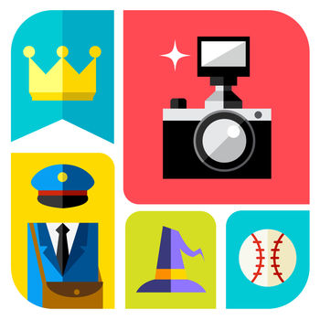 Icon Pop Word - ????? BRAND NEW THEMES from the creator of ICON POP Quiz ????? Join 15.000.000 ICON POP users in the new way of playing the game. Challenge yourself and your friends to guess all the new icons! ICON POP Word features: ? New categories ? More fun and less ads ? Share to your friends ? Hundreds of stunning icons are waiting to be guessed