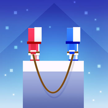 Icy Ropes - #1 Game on the App Store! US , Australia, Canada.Take control of 2 climbers at once! Jumping from cliff to cliff, tied together by a single rope! Don\'t look down!Welcome to the world of Icy Ropes! Brought to you by the creators of Bouncy Bits & Fishy Bits!Collect coins, open up secret icy boxes, and play as the awesome unicorns!! - 100+ Characters to unlock!- Super Hard!- Video Recording - Share your favourite fail!- iOS \