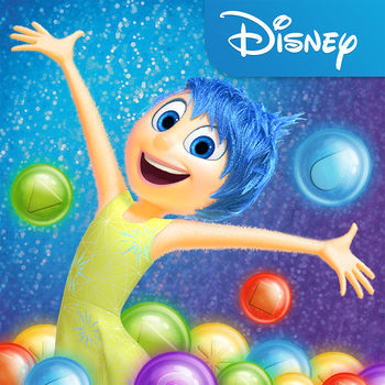 Inside Out Thought Bubbles - From the creators of Frozen Free Fall and Where's My Water?, Disney Interactive brings you this one-of-a-kind bubble-shooter based on the hit Disney•Pixar film, Inside Out!   Growing up can be a bumpy road, and it's no exception for Riley. Like all of us, Riley is guided by her Emotions — Joy, Fear, Anger, Disgust and Sadness. Join Riley\'s Emotions on a journey to match, sort and burst memory bubbles, as you travel through unique locations inspired by the film — Family Island, Dream Productions, Boy Band Island, Imagination Land, Train Yard, and more! Play this bubble shooter that twists the puzzle genre inside out! • SHOOT & MATCH memories• UNLOCK characters and play over 900 levels• UNLEASH POWER-UPS – Create sunbursts with Joy, let the rain pour with Sadness, blaze a fiery path with Anger, repel matching memories with Disgust, and scatter orbs in frantic fun with Fear!• OVERCOME obstacles like Brain Freezes and jump ahead using boosters like Brain Storms! • CONNECT to Facebook to gift and receive free lives, and to see how you stack up against your friends!• IMMERSE yourself in the world of the film through stunning 3D animation and gameplay featuring voice actors from the film!Before you download this app, please consider that this app includes advertising, some of which may be targeted to your interests.  You may choose to control targeted advertising within our applications by using your mobile device settings (for example, by re-setting your device's advertising identifier and/or opting out of interest based ads).   • In-app purchases that cost real money• The option to accept push notifications to let you know when we have exciting updates like new content• Location-based services• Advertising for some third parties, including the option to watch ads for rewards• As well as advertising for The Walt Disney Family of CompaniesPrivacy Policy - http://disneyprivacycenter.comTerms of Use - http://disneytermsofuse.com