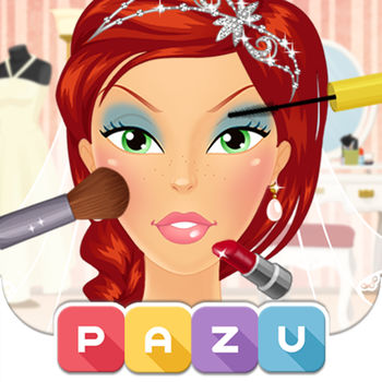 Makeup Girls - Wedding Dress Up & Make Up Games for girls, by Pazu - • Over 7 Million players worldwide.• Safe for Kids - Ad Free & Parental ControlABOUT PAZUPazu is a mobile games company that creates and publish beautiful digital games especially designed for kids.MAKEUP GIRLS WEDDING EDITIONDo you love to get dressed up? Are you a huge makeup fan? Then you will love Pazu's new makeup game, special Wedding Edition! More than just a makeover app, this game takes us into the world of fashion and dress up in entirely new way. Become a bride on her special wedding day and choose your own make up, hairstyle, and much more all with this incredibly easy to use game. Start your game play by choosing your girl or bride. The app has 6 unique characters, 2 of which are included in the free app and 4 additional characters are available with an in-app purchase. Once you choose the perfect girl to makeover, you can then go to the make up selection. With hundreds of different colors, products, and styles to choose from you will never get bored trying out different styles on your bride. Once you have chosen your character, bride, and make up selection, the next step is to choose the right fashion. You get to be the maker of your characters wedding day fashion with this amazing app. The game includes a wide selection of different dresses for you to choose from, including both strapless and strapped dresses. The games fashion follows the latest available trends and dress selections for brides and princesses to choose. After selecting the makeup, dress, and fashion you will then get the option to explore the jewellery and accessory fashion. With tons of necklaces, earrings, tiara and even wedding veil, your character will look like a true princess when you get through with her! Obviously, you also get to do your bride's hair and choose the right hairstyle to go with her fashion selection. The Makeup Girls Wedding Edition is truly a fun and entertaining game! What are you waiting for? Download this free game today and become your own fashion guru!Features :* Supports all devices.* 6 Beautiful brides.* Big collection of gorgeous bride dresses, wedding veils, jewellery and fun accessories.* Experiment with dozens of different lipsticks, earrings, eye-shadow, hair color and much more.?* Easily adjust color shades.