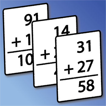 Mental Math Cards - Tips, Fact Practice, & Timed Challenge - Want to improve your math skills with out having to memorize a hundred tricks? Mental Math Cards is designed to help people of all skill levels improve their arithmetic abilities through easy to remember (and use) tips, practice question sets, and an addictive game. Unlike many other math apps, advanced problems are also supported to keep things challenging as your skills improve.Mental Math Cards is fully integrated with Game Center - providing both Leaderboards and Achievements. The Game Center features allow you to test your skills against the rest of the world and to share your scores and accomplishments with friends. Mental Math Cards provides step by step instructions on how to approach solving all of the problems it shows - for all operations and difficulty levels. Each difficulty level for each operation type is carefully thought out to build on the skills mastered in previous levels. For instance, hard multiplication problems are shown to be solvable by breaking problems down into medium and easy level problems. Students: Prepare for the math sections of the PSAT, SAT, ACT, GRE, GMAT, and MCAT, as well as for regular school tests. Many tests don\'t allow for calculators, and greater comfort with arithmetic will still improve your scores even if calculators are allowed. Professionals: Impress colleagues, family, and friends with lightening fast and accurate mental math skills. Impress interviewers during job interviews that have quantitative component by solving problems with out needing a pencil and paper. Mental Math Cards supports 1 by 1, 2 by 1, 2 by 2, and 3 by 3 digit problems. Given that flexibility, Mental Math Cards is as appropriate for use by beginning students as it is for college graduates looking to sharpen there skills for quantitative interviews and to impress friends & colleagues.Mental Math Cards supports all four of the major arithmetic operations - as well as a mixed operations mode that randomly shows all types of problems. - Addition- Subtraction- Multiplication- DivisionFeel free to contact me with any feedback and feature suggestions.==================================Select User Reviews: ***** - Excellent! - \
