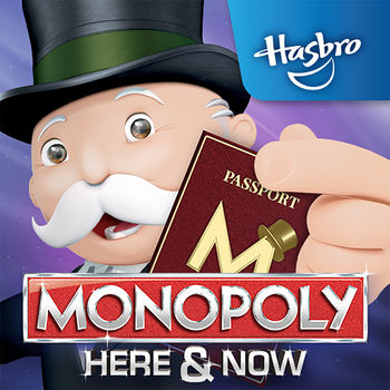 MONOPOLY HERE & NOW - NEW LOW PRICE!  Get MONOPOLY HERE & NOW for a new everyday low price!  Upgrade now & you can travel the globe and collect those stamps anytime you want for less!The NEW MONOPOLY HERE & NOW app takes the newest version of the board game outside the box. Download the game app and watch as the animated, 3D board and game pieces come to life as you play your way around the world. Gather your family or friends and get ready for this globetrotting variation on a classic board game. Download the MONOPOLY HERE & NOW app today and try it for free! Pay once to unlock unlimited play!A NEW WAY TO PLAY MONOPOLY •        Fill your passport to win by collecting property stamps.•        Travel the globe, visiting some of the world's most iconic cities and landmarks.•        Select your choice of tokens, buy cities and stockpile your money.•        Watch your animated game piece bounce from Easter Island to the Eiffel Tower.PLAY THE MONOPOLY HERE & NOW APP WHEREVER YOU GO! •        Take on the computer in single player mode!•        Link your device with a friend's device to play on the go•        Grab a group of friends and play on the TV (Chromecast device required)PLAY ON THE BIG SCREEN WITH CHROMECAST•        Connect to your TV with a Chromecast device and use your tablet or smartphone to control the action! •        Chromecast device & internet connection required for Play on TV mode.•        Each player must have the MONOPOLY HERE & NOW app installed on their device.You can read our privacy policy at Hasbro.com/app_privacy.cfmChromecast is a trademark of Google Inc.HERE & NOW, the MONOPOLY name and logo, the distinctive design of the game board, the four corner squares, the MR. MONOPOLY name and character, as well as each of the distinctive elements of board and playing pieces are trademarks of Hasbro for its property trading game and game equipment.  © 1936, 2015 Hasbro.  All Rights Reserved.