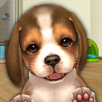 My First Dog. - Meet the cutest dogs of the Smartphone games history! From now on, Playbean gives you the cutest puppies running in your arms. ? PLAY Hint!!  Right / Left hand – Drag up a hand you wantSit – Drag the head downLie flat – Drag the head down when your dog sittingBang! – Drag the head a side when your dog sittingLie - Drag the head a side when Bang! Roll - Drag the head a side when your dog lies* Detail tips of tricks are referred below the link of video.http://www.youtube.com/watch?v=4bU6hyRdwSc ? Expected UPDATE  A lot of new puppies like Pug, Chihuahua, Miniature Pinsche..etc. Various rewards when you level up! Many things you can do with your friends together... Talk with your friends about the episodes when growing your dog. And share rewards visiting friends' house and helping them. ? About 'My First Dog' ? ? Live and breathe dogs in your Smartphone. - The dogs express their emotions like joy, sadness and they'll do cute actions. - Enjoying all the things when you bring up your puppy like dressing, feeding and taking a walk. ? Hundreds of various costume items. - Dressing your puppy using enormous costume items - Finding hidden items when taking a walk or going out with your dog! ? Puppy will get new talent as your love. - Getting along with your dog more, your puppy gets a new talent. - Boast your talents and try to win the championship! It gives you Wealth and Fame!  Play Tip!  - Touch your dog and move it ways. According to action, your dog does a new thing. - When you find a gift box during taking a walk, lead your dog to it. - Your dog often play outside so don\'t be panic if your dog is not in house. Sometimes your dog bring an amazing item.