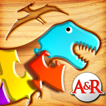 My First Wood Puzzles: Dinosaurs - A Free Kid Puzzle Game for Learning Alphabet - Perfect App for Kids and Toddlers! - Kids from 2 to 6 will have fun solving their first puzzles. With 120 different puzzles, lowercase and uppercase letters, nice sound effects, beautiful graphics and 3 levels of difficulty, this game will entertain your children while improving their motor skills. On each shape, a letter is written. On level 2 and 3, children have to put the shapes in the right order, so that they will learn the alphabet. Letters are pronounced when shape is put in the right place.75 puzzles are available in the full version!!!The 15 first puzzles are free, the others can be bought inside the game in one pack.*** After buying the locked levels, the locks are removed and the puzzles has to be played in the right order: finish the 1st one before playing the 2nd one, etc... ***This game is part of your \