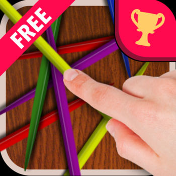 Pick-Up Sticks - Over 7 MILLION downloads worldwide!-- Top 5 (iPhone) in 48 Countries ---- Top 1 (iPad) in 42 Countries --Get your hand ready for the new stick picking game. Challenge online player anytime and anywhere.Four Game Modes ======================Casual Mode : Finish all 50 sticks in minimum time.Arcade Mode : Get highest coins with limited life.Time Attack Mode: Get highest coins within one minute.Creative Mode : Create your own pattern for play.Multiplayer Mode ======================You can play with your friend with 3G, wifi or bluetooth.18 Theme Sticks===========Select your favor theme when you play. Earn the coins in Arcade and Time Attack mode and unlock your favor theme.