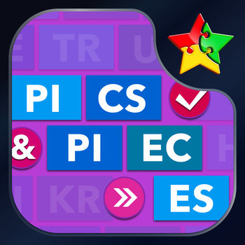 Pics & Pieces - Addicting Puzzle Game - Assemble the word pieces to match the pics! Each level contains 6 pics and 6 words to decipher - can you beat them all?