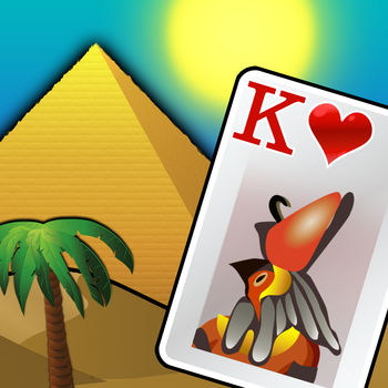 Pyramid Solitaire - Ancient Egypt - Based on the ever popular Pyramid Solitaire we have created our own outstanding Ancient Egyptian themed solitaire game for you to play. Originally a free online card game with over ONE BILLION PLAYS (wow!), we\'ve created the best Pyramid Solitaire app for your iPhone and iPad.Build spectacular pyramids for the Pharaoh and his Queen with your card game skills. To play just clear the board by pairing cards to the value of 13. Deal out additional cards in groups of three as needed to help you. This matching gameplay is a wonderful way to wind down after a long day. If you\'ve played classic solitaire, spider solitaire or even tri-peaks, we think you\'ll find Pyramid Solitaire - Ancient Egypt an interesting variant that keeps your mind engaged.With beautiful artwork, enchanting sound effects, animations and intuitive controls you\'ll see why this is such a popular solitaire.FEATURES:- A relaxing and interesting game for your brain that takes the best of solitaire games like classic solitaire and tripeaks.- Enchanting graphics and layout set in glorious Ancient Egypt.- Simple controls and smooth play.- Local and global leader boards so you can compare scores with friends and family.- Atmospheric sound effects and inspiring music.- Don\'t worry about interruptions, your game will automatically save its place.Join millions players who have described our game as \