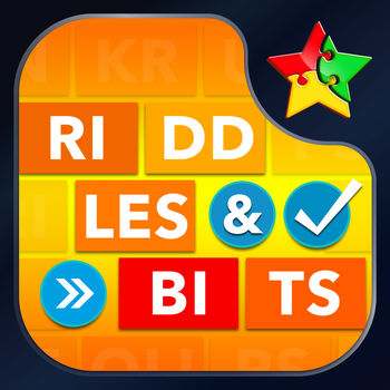 Riddles & Bits - Brain Teasers - Assemble the word bits to match the clues! Each level contains 6 clues and 6 words to decipher — can you beat them all?