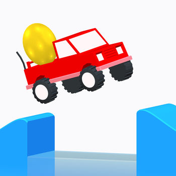 Risky Road - Drive as far as you can and keep the egg safe.Get the right speed to pass obstacles.Just tap the screen to accelerate and pass obstacles, keep the egg safe !Collect coins and bonus letters to unlock new cars and egg colors.How far will you go ?