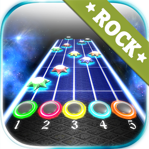 Rock vs Guitar Legends 2015 HD - Play free imitation guitar. Train your precision reflexes help of this unique and fun game. After tapping the drives and precision timing and rhythm get score. You have to catch the stars rushing to beat. Enjoy beautiful graphics and visual effects. This application was created for fans of rock, electric and acoustic musical instruments. Become a true guitar heroes.Game features:- 27  creative commons music songs.- Online Multiplayer- Online leaderboards.- Advanced 3D graphics with smooth reflections.- Lights with glow effects, and beautifully colored particle effects.For more details about authors of songs visit our web site.