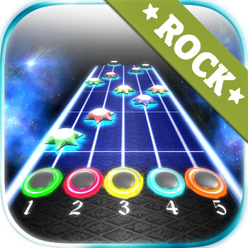 Rock vs Guitar Legends HD - Play free imitation guitar. Train your precision reflexes help of this unique and fun game. After tapping the drives and precision timing and rhythm get score. You have to catch the stars rushing to beat. Enjoy beautiful graphics and visual effects. This application was created for fans of rock, electric and acoustic musical instruments.Game features:- 27  creative commons music songs.- Online Multiplayer- Online leaderboards.- Advanced 3D graphics with smooth reflections.- Lights with glow effects, and beautifully colored particle effects.For more details about authors of songs visit our web site.
