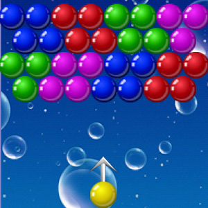 Shooter Bubble - The goal of the game is to clear the playing field by forming groups of three or more like-colored marbles. The game ends when the balls reach the bottom line of the screen. The more balls destroyed in one shot, the more points scored. A player wins when there are no balls remaining on the playing field.