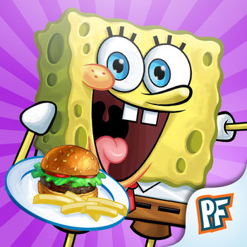 SpongeBob Diner Dash - PlayFirst and Nickelodeon team up to bring you the dish-flipping fun of Diner Dash with a super awesome SpongeBob twist! Soak up 5-star feeding fun with SpongeBob! Mr. Krabs is expanding his Krabby Patty empire, one restaurant at a time. Help SpongeBob seat, serve and satisfy all kinds of fishy customers in five colorful Bikini Bottom restaurants. Slide and tap to send SpongeBob to customers' tables. Take orders, seat customers, and collect big tips to upgrade your restaurants! --------------------PLEASE NOTE: SpongeBob Diner Dash charges real money for additional in-app content. You may lock out the ability to purchase in-app content by adjusting your device's settings.--------------------Dive into culinary chaos under the sea with SpongeBob Diner Dash! With Sponge-tastic game features, you can:?Explore restaurants like the Krusty Krab, Dutchman's Inn, and more ?Meet special guest stars like Patrick Star and other characters from the show  ?Get tons of fast-paced levels for hours of fun ?Shop for awesome power-ups at the store ?Connect with GameCenter to show off your scores ?Unlock additional restaurants through in-App purchase ?Play on iPhone and iPadADDITIONAL NOTES:iOS will keep you logged on for 15 minutes after an initial in-app purchase. Additional purchases won't require a re-entry of your password during this 15-minute interval. This is a function of the iOS software and not within our control.SpongeBob Diner Dash collects personal user data as well as non-personal user data (including aggregated data), connects with 3rd party social media applications, and offers in-app purchases.  User data collection is in accordance with applicable law, such as COPPA. User data may be used, for example, to respond to user requests; enable users to take advantage of certain features and services; personalize content and advertising; and manage and improve Nickelodeon\'s services. For more information regarding Nickelodeon's use of personal user data, please visit the Nickelodeon Group Privacy Policy. Our Privacy Policy is in addition to any terms, conditions or policies agreed to between you and Apple, Inc., and Nickelodeon and its affiliated entities are not responsible for Apple\'s collection or use of your personal user data and information. Use of this app is subject to the Nickelodeon End User License Agreement.  For Users residing in the EU, this app may include the use of persistent identifiers for game management purposes and installation of this app constitutes your permission to such usage of persistent identifiers for all users on your device.Privacy Policyhttp://www.nick.com/info/privacy-policy.htmlEnd User License Agreement:http://www.nick.com/info/eula.html.© 2013 Viacom International Inc. All Rights Reserved. Nickelodeon, SpongeBob SquarePants, and all related titles, logos and characters are trademarks of Viacom International Inc. Created by Stephen Hillenburg.