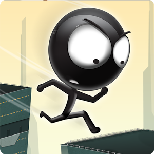 Stickman Roof Runner - Run adrenalin charged for your life over deadly roof tops, avoid urban canyons, perfectly time your jumps and try to get as far as possible. Beat your friends highscore and share your awesome replays.