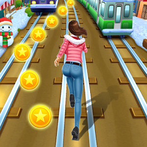 Subway Runner - Subway runner gameDash as fast as you can dodge the oncoming trainsThe most excited subway snow themed runner game, escape from the Santa Claus, run as fast as you can. Intuitive controls to run left or right, jump in the sky to obtain more coins, excited slide to safety!Subway runner is a endless surfers game, to be the best runner, try your best to dash. More characters, such as Bruce Lee, Santa Claus, choose your best liked runner, rush in the beautiful snow subway scenes.Subway Runner Features:.Best runner game.Rush as fast as you can.Influent screen touch & gravity control.Grind trains with your cool crew.Colorful and vivid HD graphics.Powerful music .Upgrade all the properties to get endless power.Get more and more gems Join the most daring chase, made by Rioo