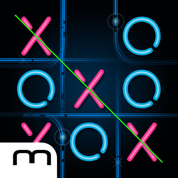 Tic Tac Toe Glow FREE - Tic Tac Toe Glow - the original with cool Neon graphics! Place your X or O in a row to win the game.Everybode knows it, everybody loves it! Challenge your friends or the computer opponent with three difficulty levels. It\'s not just the classic 3x3 game board which thrilled thousand of users, but from now on you can challenge your friends on the new 6x6 game board.The unique and high quality neon design and the funny sounds make Tic Tac Toe Glow to one of the most popular apps for smartphones!Be clever, place your circle or cross three times in a row and become Tic Tac Toe Champion.Features for free version:- 1 & 2 player mode- 3 difficulty level for the computer opponent- Game board size: 3x3 and 6x6 - Choose different designs - Twitter and Facebook integrationAdditional Feature:- No adsFor questions or other feedback visit us on Facebook: www.facebook.com/mobiventionDon\'t waste your time with paper and pen and get the original for your smartphone!Not convinced? See what users have to say:***** \